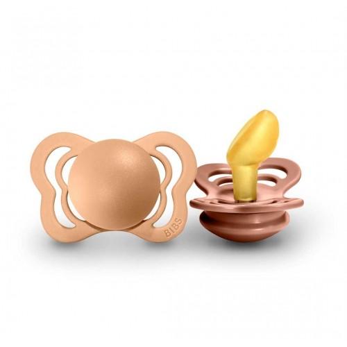 """BIBS 0-6 mėn. čiulptukai """"Couture"""", 2 vnt. (Peach/Woodchuck)"""