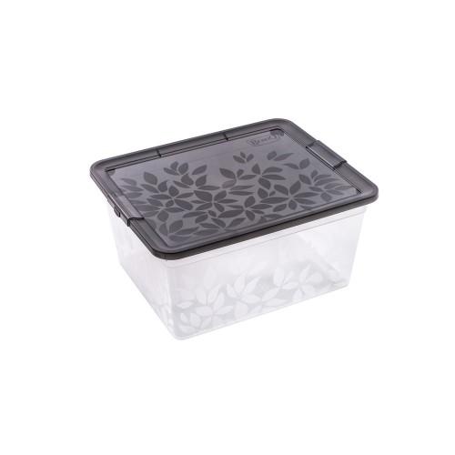 BRANQ 5,5L plastikinė dėžė su dangčiu Jasmine (juoda)