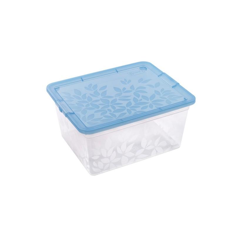 BRANQ 5,5L plastikinė dėžė su dangčiu Jasmine (mėlyna)