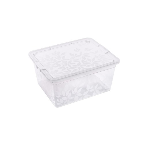 BRANQ 5,5L plastikinė dėžė su dangčiu Jasmine (skaidri)