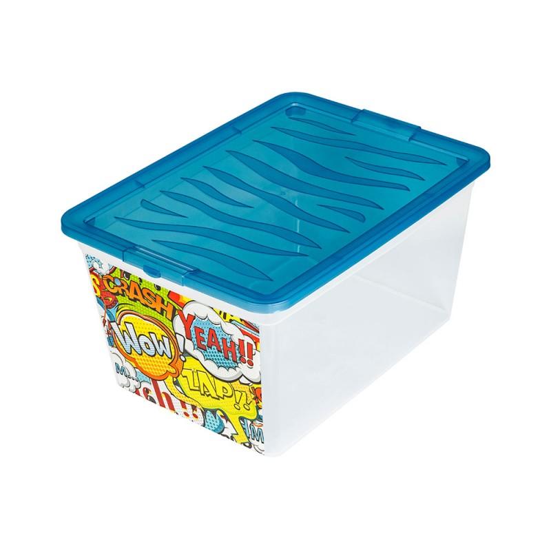"BRANQ 15l dėžė žaislams ""WOW"" (blue)"