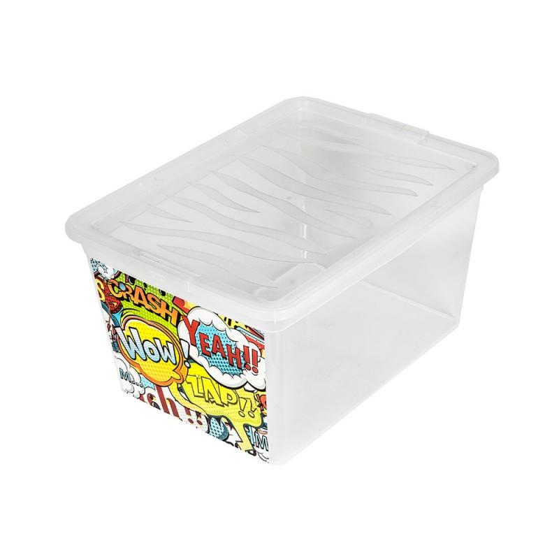 """BRANQ 15l dėžė žaislams """"WOW"""" (white)"""