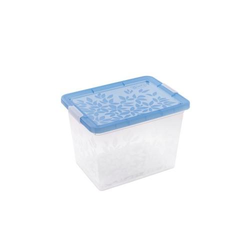 BRANQ 22L plastikinė dėžė su dangčiu Jasmine (mėlyna)