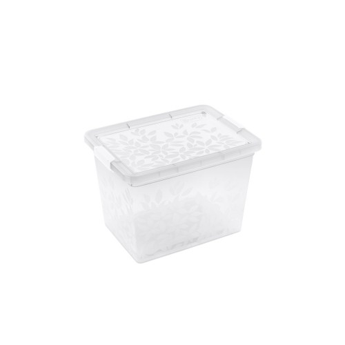 BRANQ 22L plastikinė dėžė su dangčiu Jasmine (skaidri)
