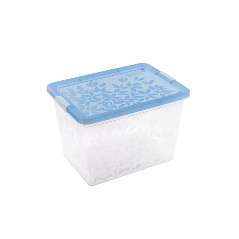 BRANQ 33L plastikinė dėžė su dangčiu Jasmine (mėlyna)