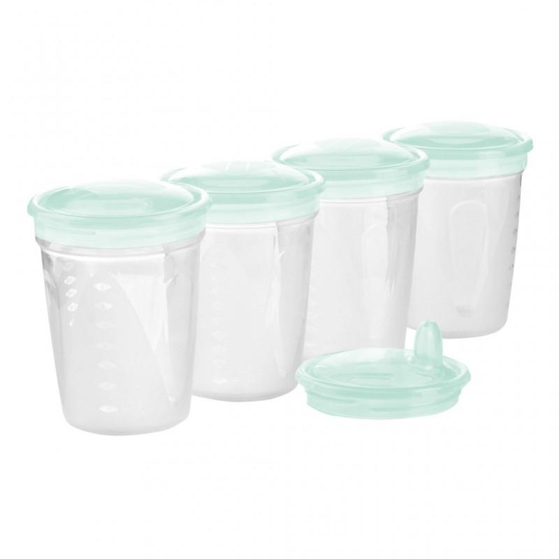 BABYONO indeliai pienui/maistui 200 ml. 4 vnt. (mėtiniai)