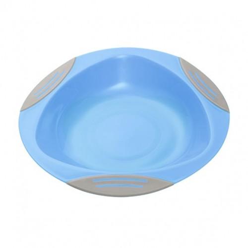 BABYONO lėkštė limpančiu dugnu 6+ mėn. (mėlyna)
