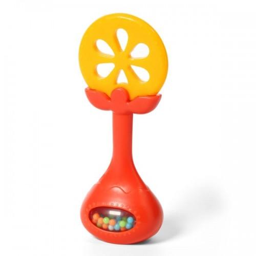 """BABYONO lavinamasis kramtukas su barškučiu """"Apelsinas"""""""