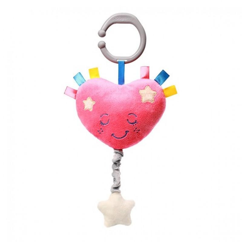 """BABYONO minkštas žaisliukas su muzikėle """"Širdelė"""""""