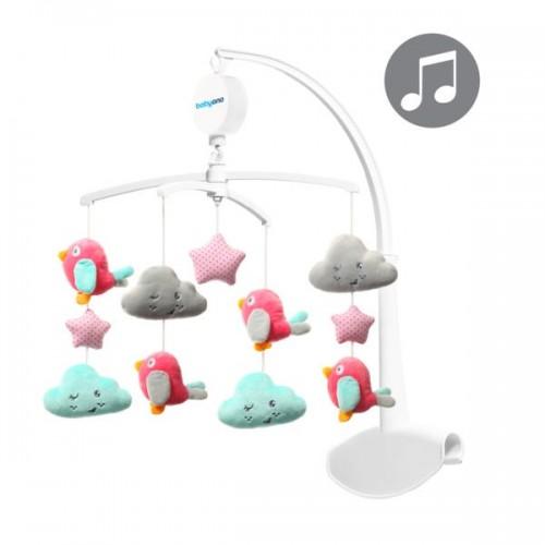 """BABYONO muzikinė karuselė """"Paukščiukai ir debesėliai"""""""
