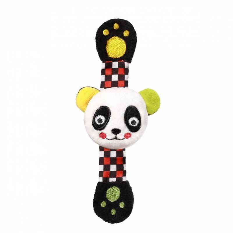 """BABYONO C-MORE minkštas barškutis ant rankos """"PANDA"""""""