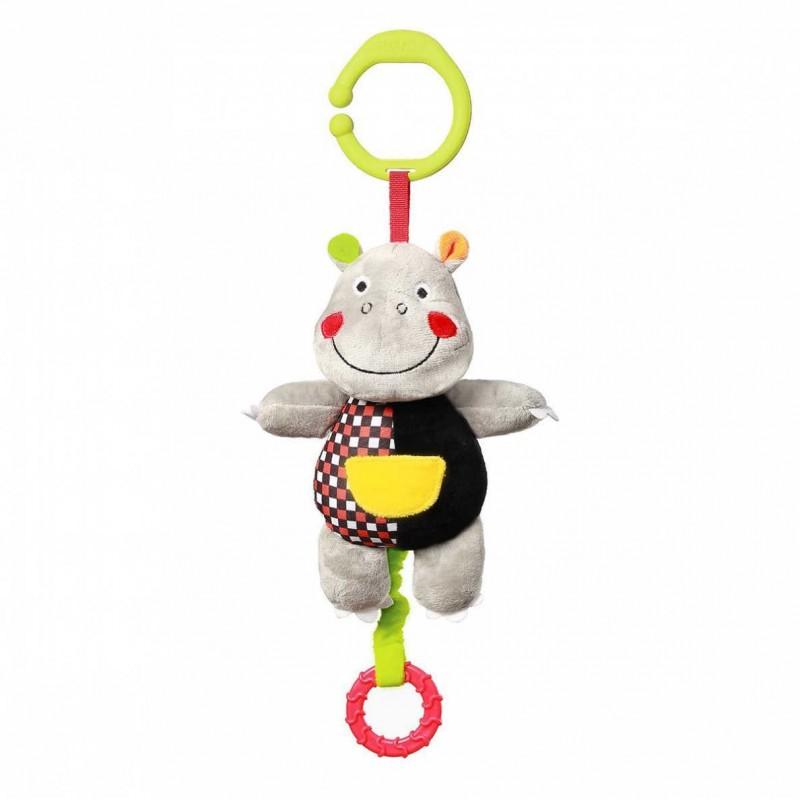 """BABYONO C-MORE minkštas žaisliukas su muzikėle """"HIPOPOTAMAS"""""""