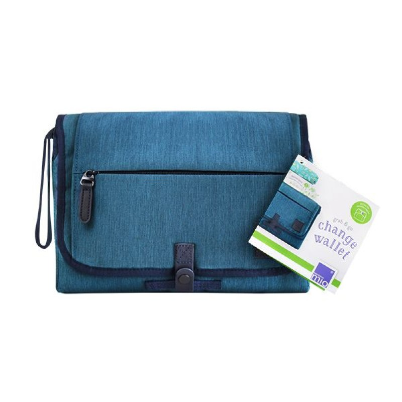 "BAMBINO MIO vystymo paklotas ""Grab & go change wallet"" (mėlynas)"