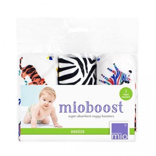 """BAMBINO MIO daugkartiniai sauskelnių įdėklai MIOBOOST """"Savanna Stripes"""", 3 vnt."""