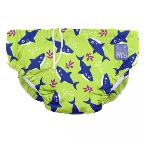 """BAMBINO MIO daugkartinės maudymosi kelnaitės kūdikiams """"Neon Shark"""""""