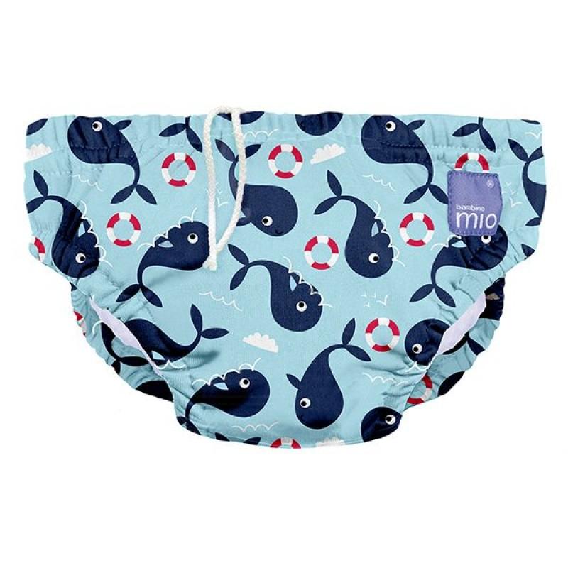"""BAMBINO MIO daugkartinės maudymosi kelnaitės kūdikiams """"Whale Wharp"""""""