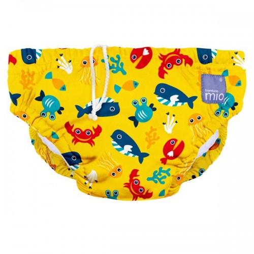 """BAMBINO MIO daugkartinės maudymosi kelnaitės kūdikiams """"Deep Sea Yellow"""""""