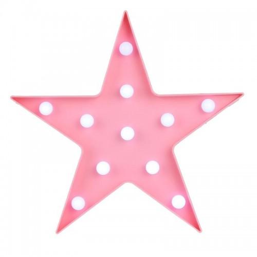 """CMP naktinė LED lempa """"Žvaigždutė"""" (rožinė)"""