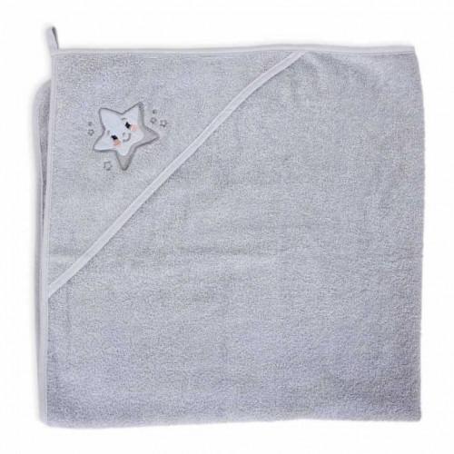 """CEBABABY rankšluostis su gobtuvu """"Žvaigždė"""" (pilkas), 100x100 cm."""