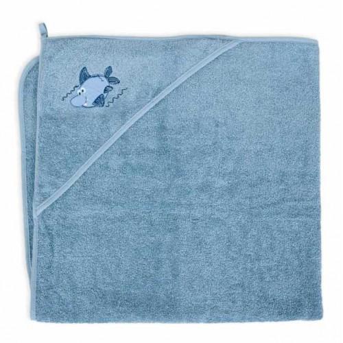 "CEBABABY rankšluostis su gobtuvu ""Ryklys"", 100x100 cm."