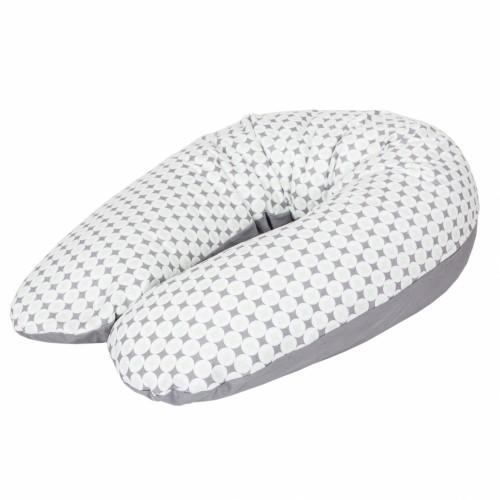 """CEBABABY maitinimo pagalvė """"MULTI"""" (rombai, 190x35)"""