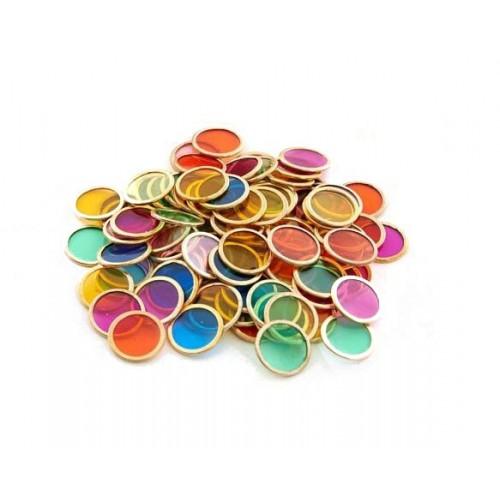 SHAW MAGNETS spalvoti metaliniai diskeliai, 100 vnt.