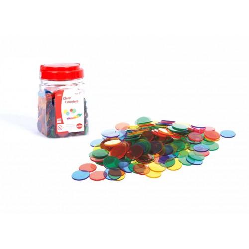 EDX spalvoti plastikiniai diskeliai, 500 vnt.