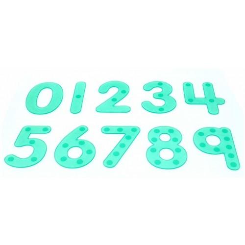 TICKIT SiliShapes® spalvoti skaidrūs skaičiai, 10 vnt.