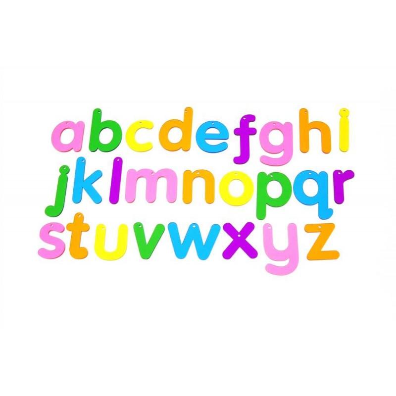TICKIT spalvotos skaidrios raidės, 26 vnt.