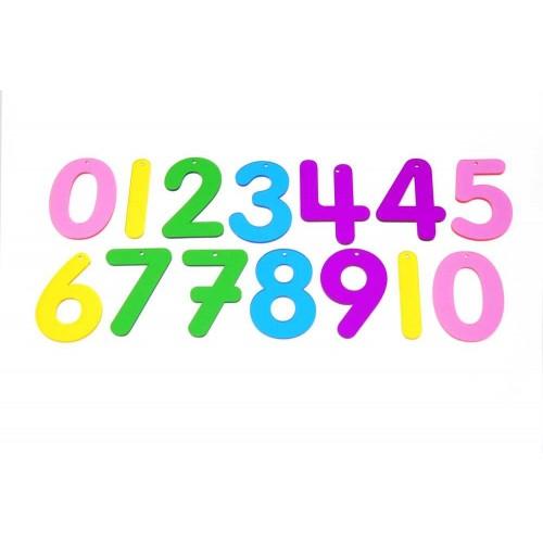 TICKIT skaidrūs spalvoti skaičiai, 14 vnt.