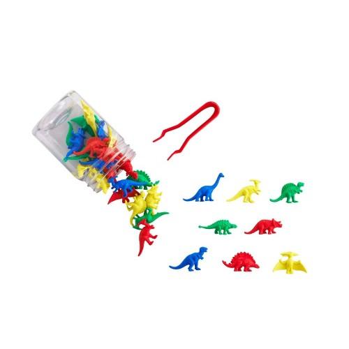 EDX mažos dinozaurų figūrėlės indelyje, 32 vnt.