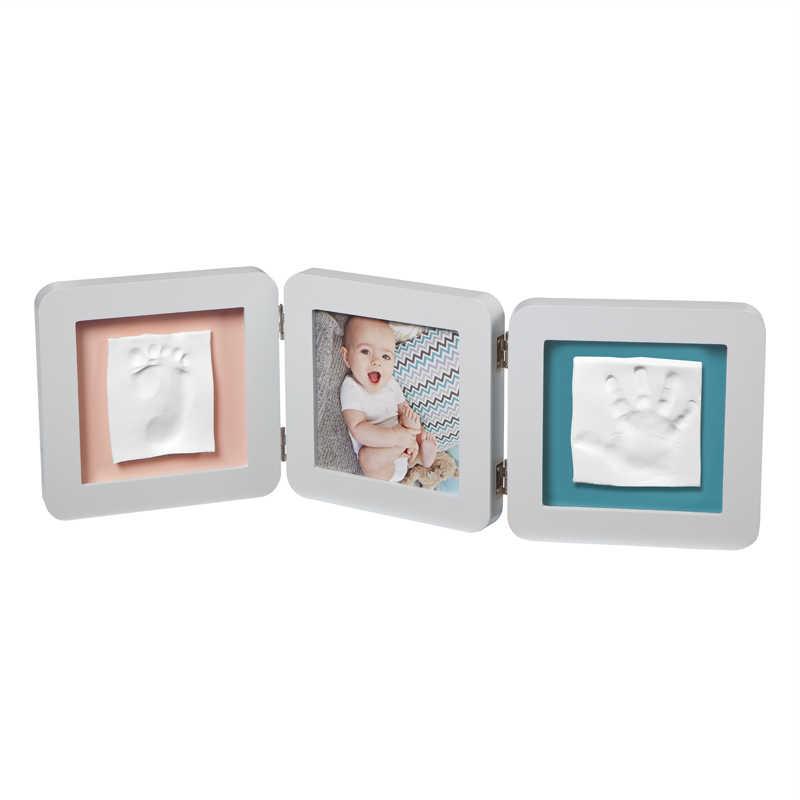 BABY ART trigubas kvadratinis nuotraukos rėmelis su įspaudais (pastelinė)