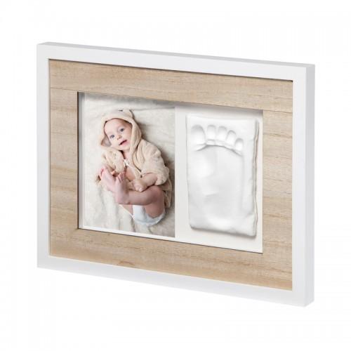 """BABY ART medinis nuotraukos rėmelis su atspaudu """"Tiny Style Touch"""""""