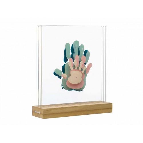 """BABY ART medinis rėmelis rankų atspaudams """"Family Prints"""""""