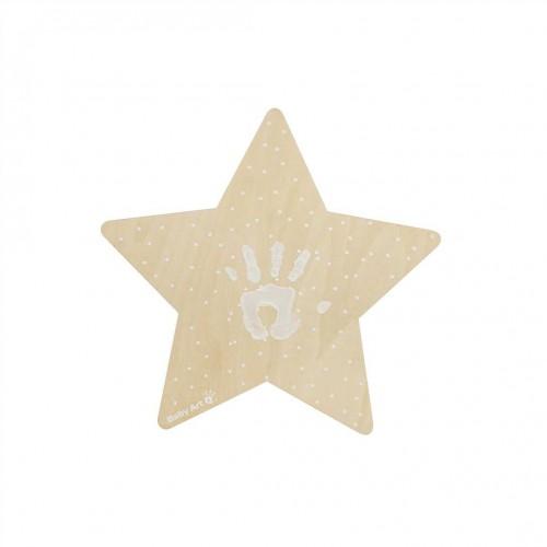 """BABY ART medinė sieninė lempa su atspaudu """"Star"""""""