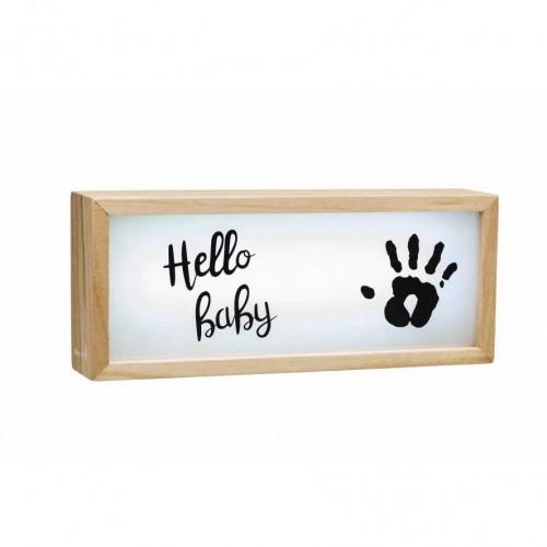 BABY ART medinis rėmelis - švieslentė su atspaudu