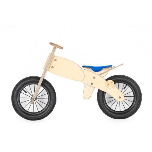 """DIP DAP 3+ m. medinis balansinis dviratukas """"Motociklas"""" (mėlyna sėdynė)"""