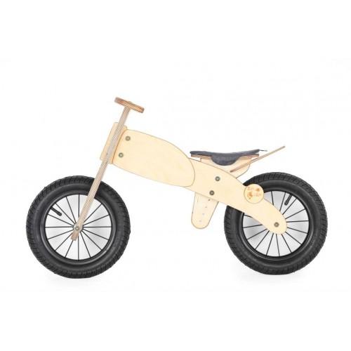 """DIP DAP 3+ m. medinis balansinis dviratukas """"Motociklas"""" (pilka sėdynė)"""