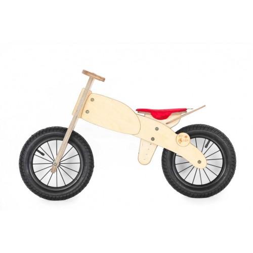 """DIP DAP 3+ m. medinis balansinis dviratukas """"Motociklas"""" (raudona sėdynė)"""