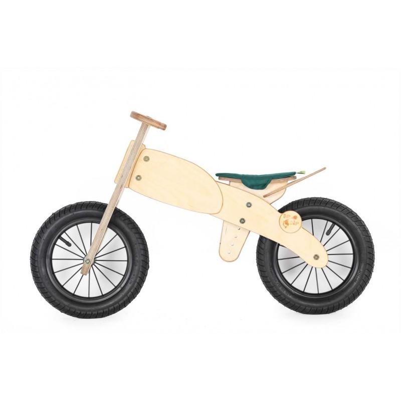 """DIP DAP 3+ m. medinis balansinis dviratukas """"Motociklas"""" (žalia sėdynė)"""