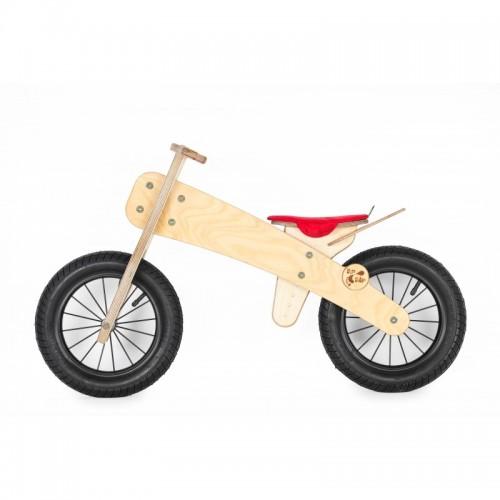 """DIP DAP 2+ m. medinis balansinis dviratukas """"Raudona sėdynė"""""""