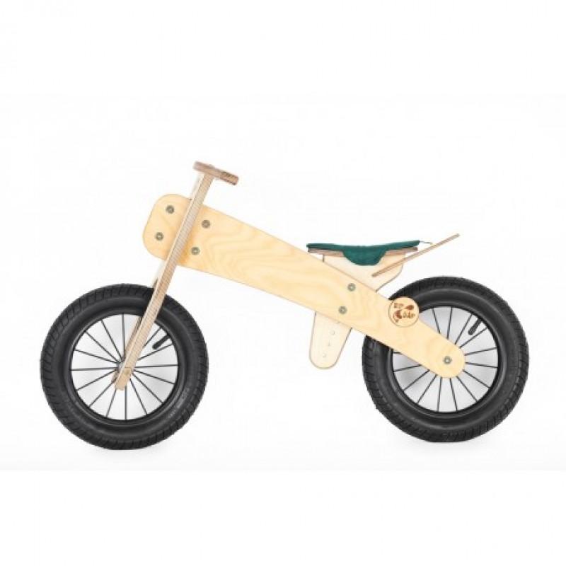 """DIP DAP 2+ m. medinis balansinis dviratukas """"Žalia sėdynė"""""""