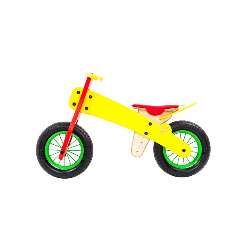 """DIP DAP 2+ m. medinis balansinis dviratukas """"Geltonas"""""""