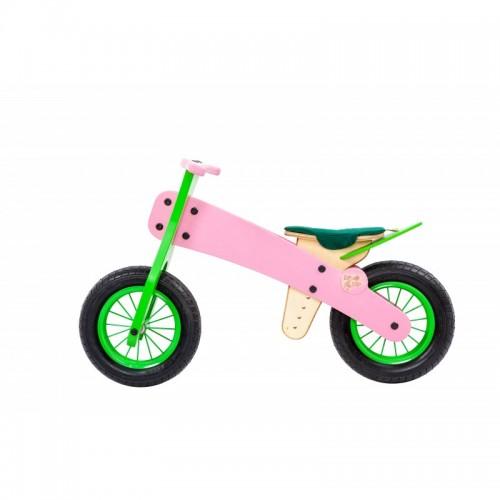 """DIP DAP 2+ m. medinis balansinis dviratukas """"Rožinis"""""""