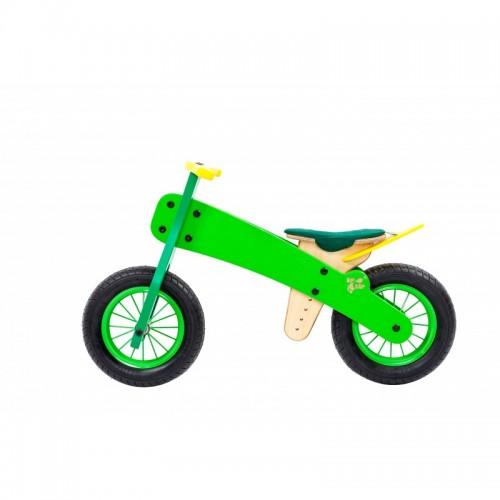 """DIP DAP 2+ m. medinis balansinis dviratukas """"Žalias"""""""