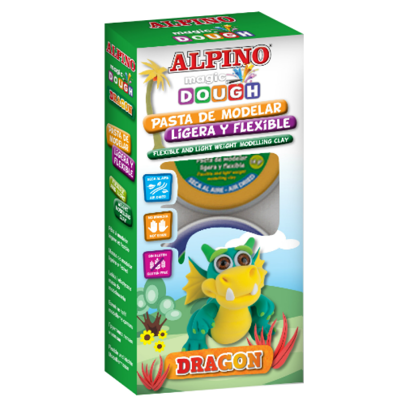 "ALPINO modelinas ""Magic Dough Dragon"""