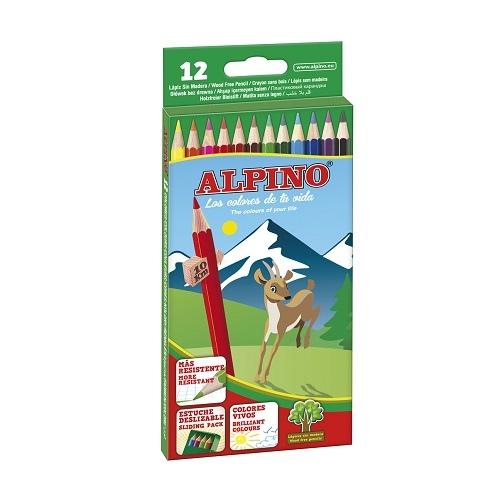 """ALPINO spalvoti pieštukai """"Classic"""", 12 spalvų"""