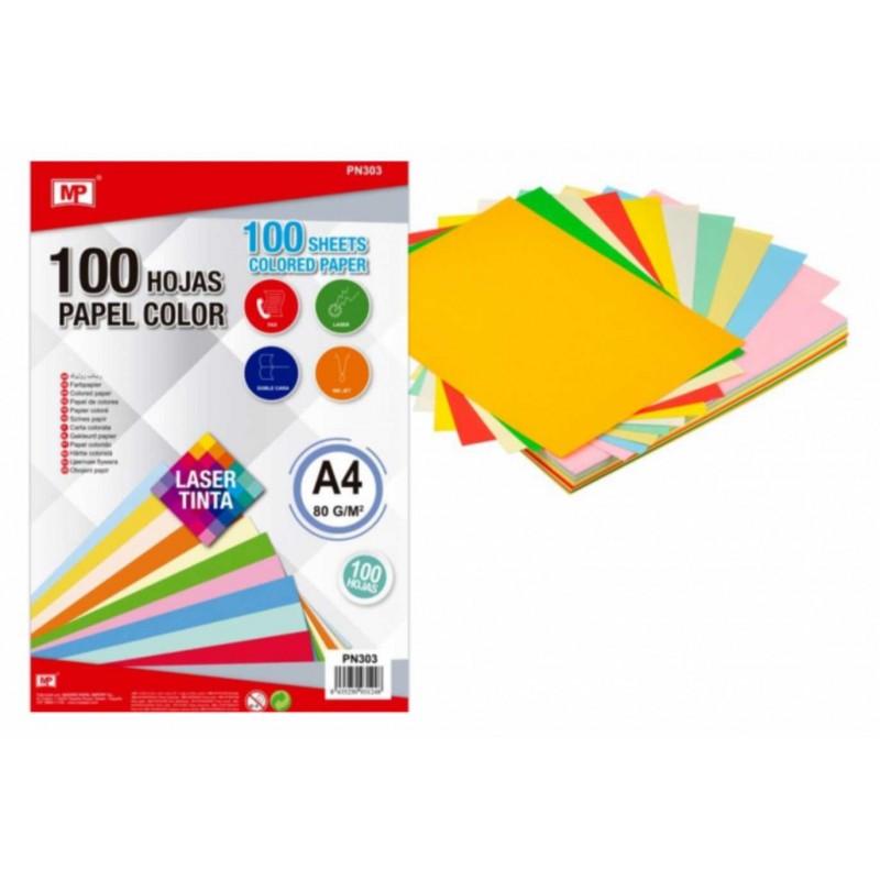 MP spalvotas dvipusis popierius, A4, 100 lapų