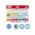 ARTIXKID flomasteriai su antspaudėliais, 12 spalvų