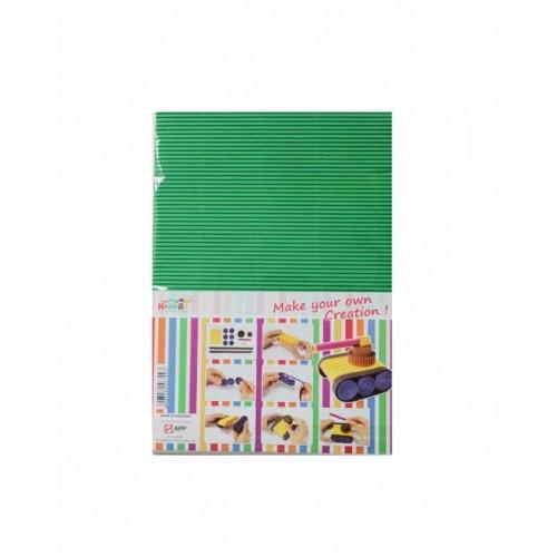 KOKORU spalvotas ryškus gofruotas kartonas A4, 8 lp., 275 gr.